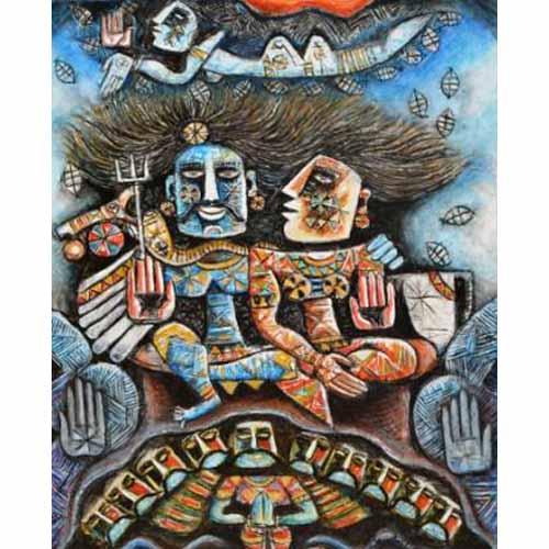 SE13  Shiva I  Acrylic on canvas  30 x 24 inches  Available
