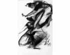 AV68 <br> Dancers - I <br>  Charcoal on paper <br> 19 x 12 inches <br> Available