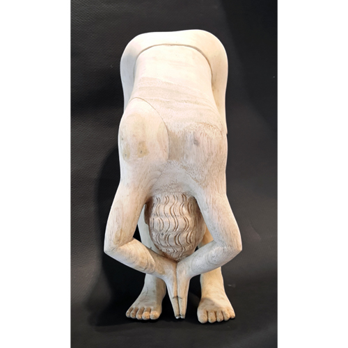 SH60  Buddha - II  White Cedar Wood  5 x 12 x 4.5 inches  Unavailable (Can be commissioned)