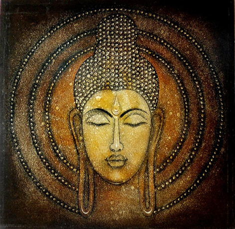CH09  Buddha - XX  Oil on canvas  48 x 48 inches  Unavailable (Can be commissioned)