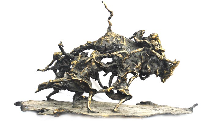 EL15 Breaking the Barriers - I Bronze 34 x 20 x 19 inches Unavailable )Can be commissioned)