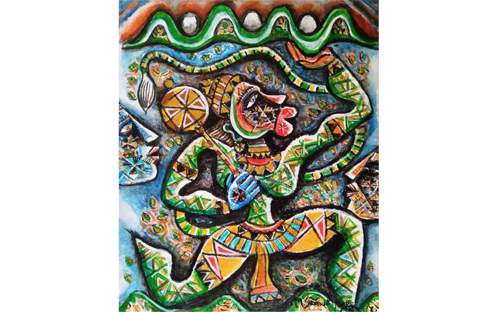 M.Senathipathi SE0064 Hanuman - VIII 12 x 10 inches Acrylic on Canvas Board Available