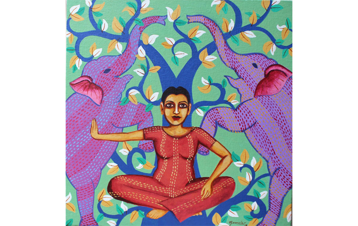 NB004 Laxamma Acrylic on Canvas 12 X 12 inches Unavailable (Can be commissioned)
