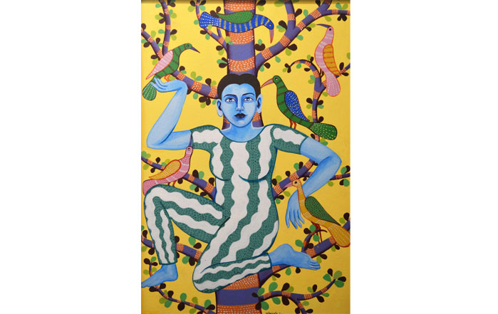 NB006 Shakthi Acrylic on Canvas 22 X 15 inches Available