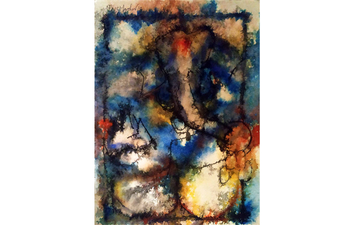 NSM0035 Ganesha - IX  Mixed Media on Paper 15 x 11 inches Available