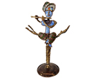 S.Hemalatha<br> HE16<br> Krishna II<br> Welded Copper Oxidised with Enamel<br> 8 x 4.5 x 13 inches<br> Available