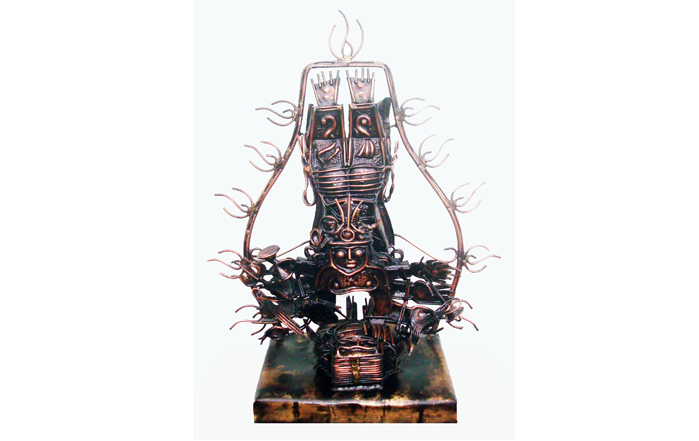 V.R.Raviram  Gangaavaharana  Copper oxidised and welded  17 x 8 x 20 inches  Unavailable (Can be commissioned)