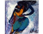 AV39 <br>  Raas Leela 3  <br>  Acrylic on canvas  <br> 12 x 12 inches <br> Available