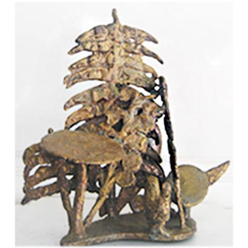Nupur Chatterjee  Jungle  Bronze  12 x 8 x 12 inches  Unavailable (Can be commissioned)