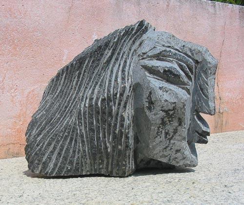 DA10  Woman 9  Granite  8 x 8 x 5 inches  Available