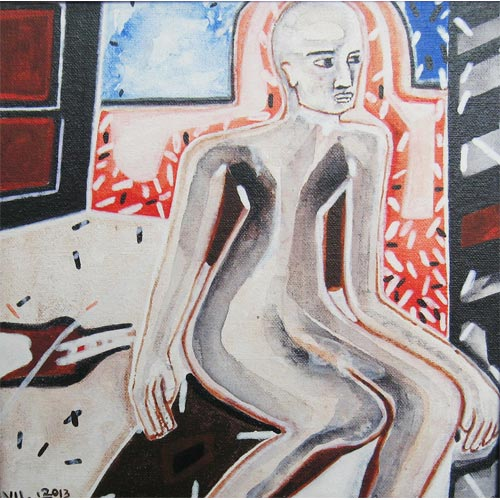 V.Uma Shankar  Untitled 4  Acrylic on Canvas  10 x 10 inches   Unavailable (Can be commissioned)