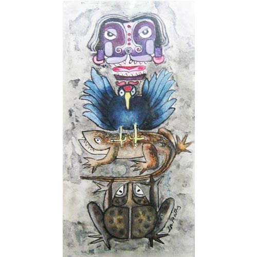 D.Venkatapathy  Totem - I  Acrylic on paper  14 x 7 inches  Unavailable (Can be commissioned)